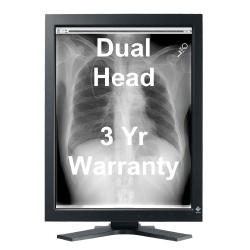 Dual Head 3MP EIZO RadiForce LCD Monochrome Picture