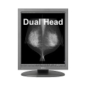 Dual Head 5MP Totoku Monochrome LCD with PCI Express Video Card Thumbnail